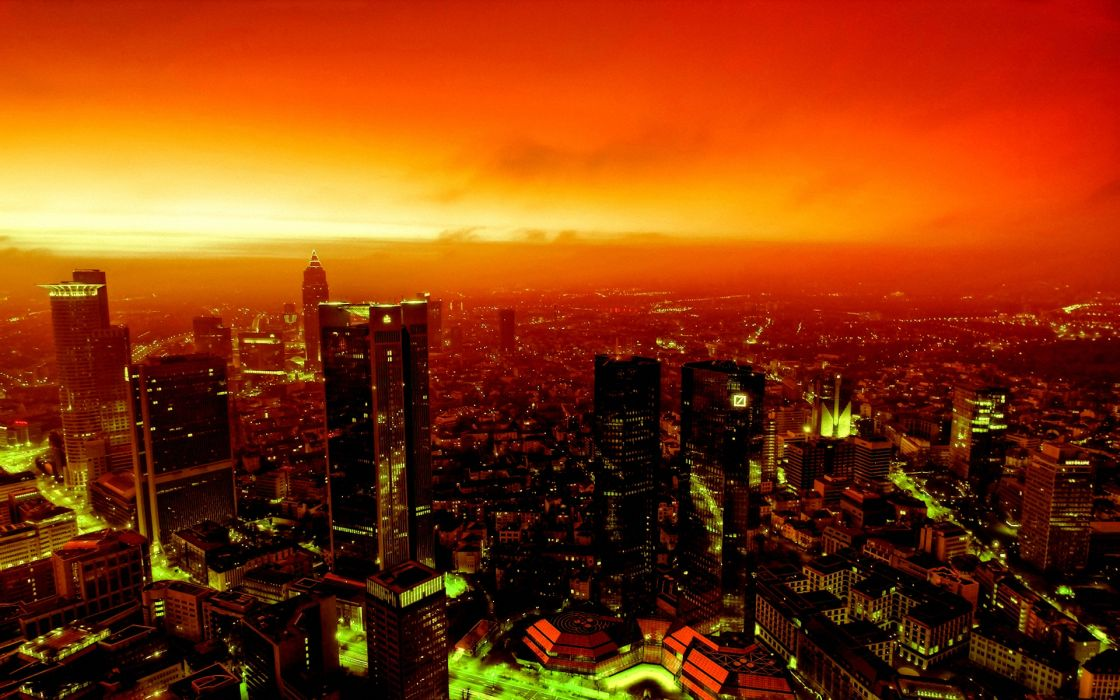 Cityscapes fire buildings wallpaper