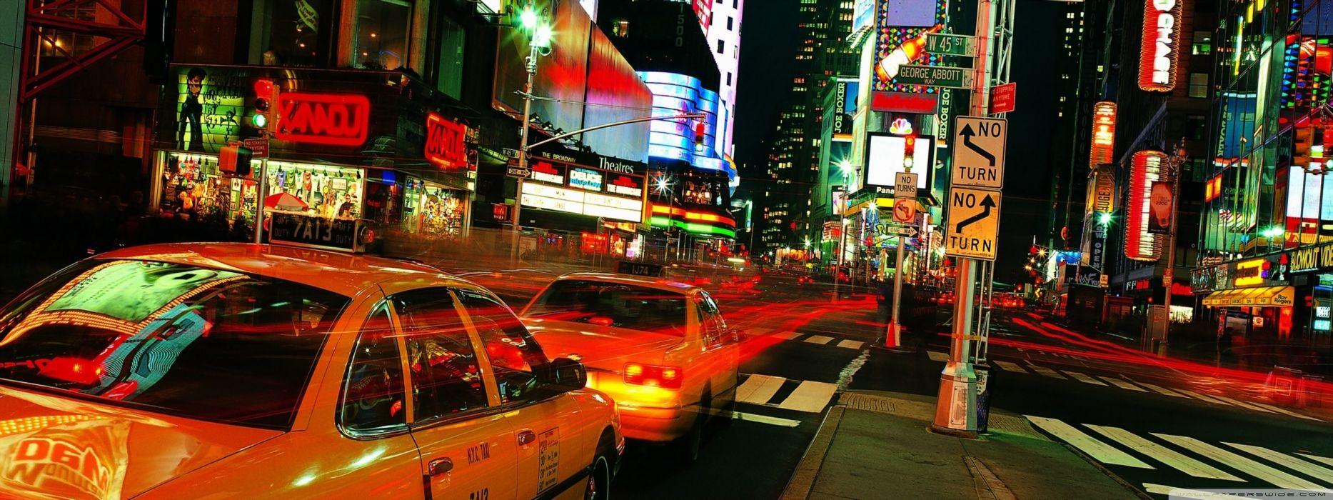 Lights new york city wallpaper