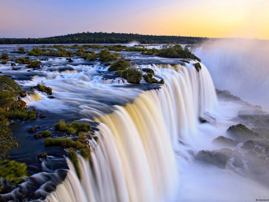 Nature argentina brazil waterfalls iguazu falls wallpaper