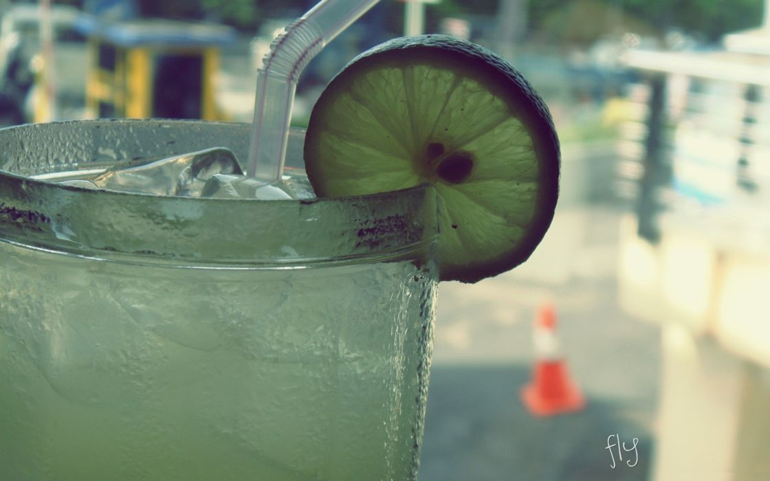 Ice artistic vintage cold straws drinks lemonade wallpaper