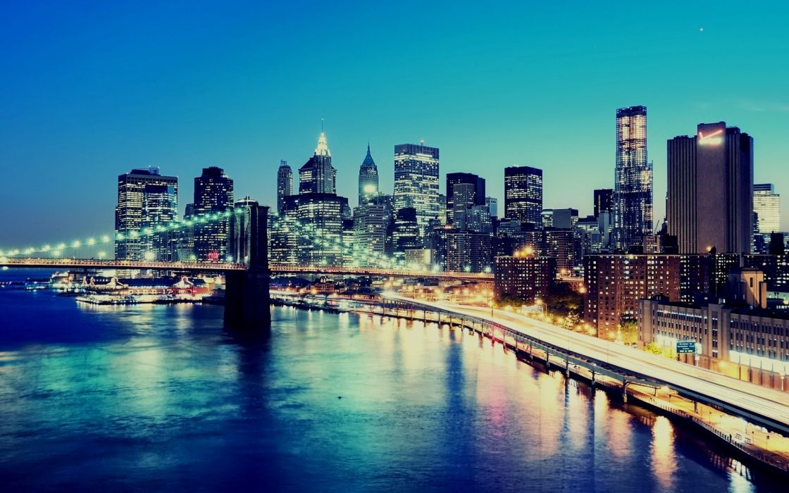 Cityscapes new york city manhattan wallpaper