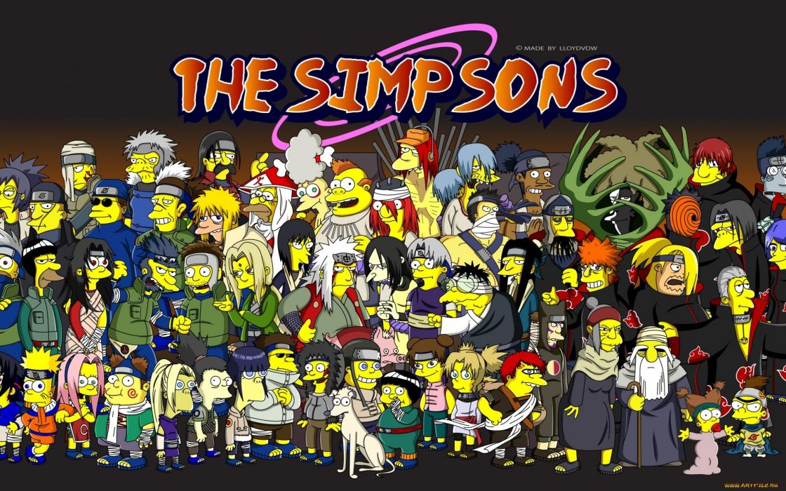 Cartoons homer simpson heroes naruto shippuden akatsuki son goku villains the simpsons bart simpson series lisa simpson mr wallpaper