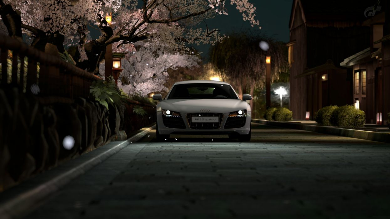 Japan Night Audi R8 Wallpaper