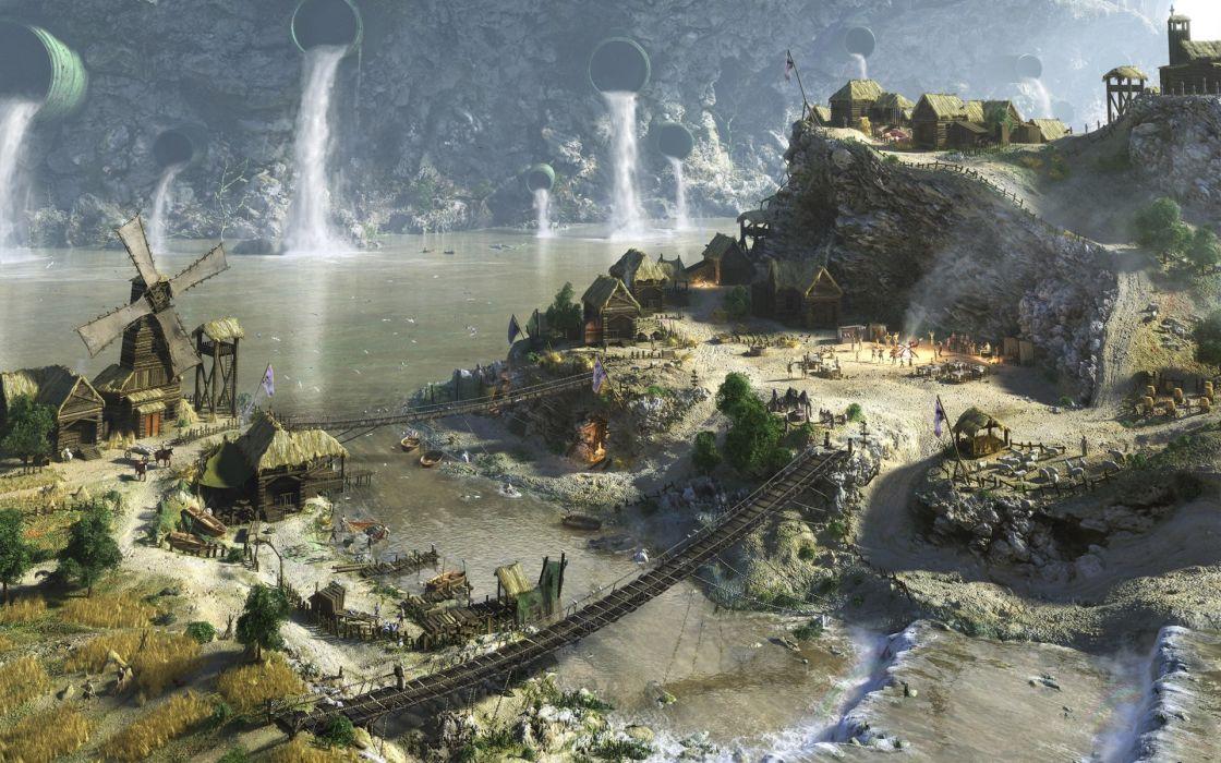 Medieval Villages Wallpaper