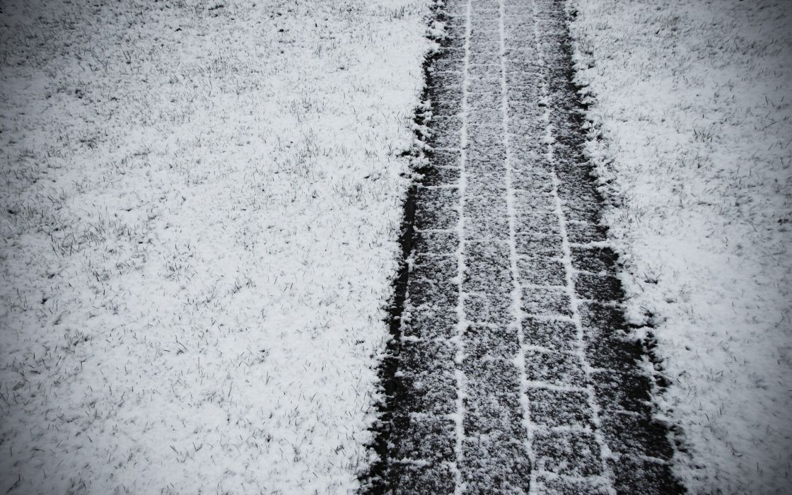 Winter (season) snow path wallpaper