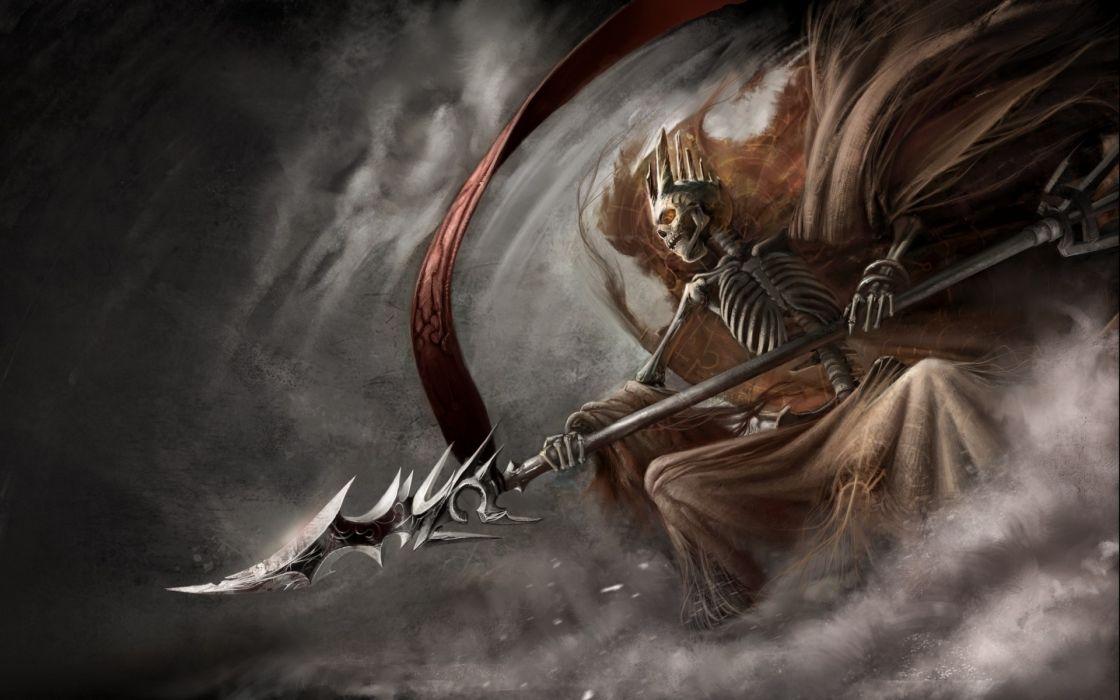 Abstract smoke fantasy art artwork warriors swords wallpaper