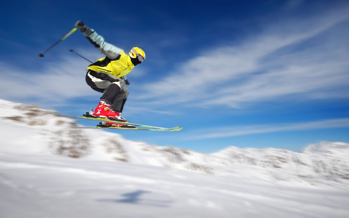 Clouds snow sports helmet ski wallpaper