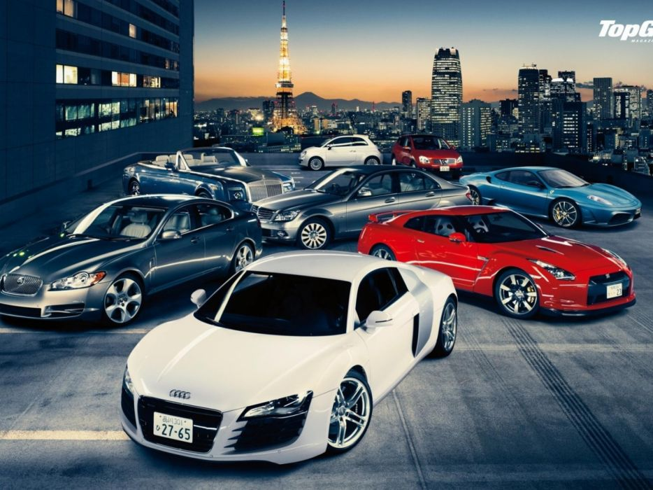 Cars top gear jaguar ferrari fiat 500 nissan skyline audi r8 rolls royce rolls royce phantom wallpaper