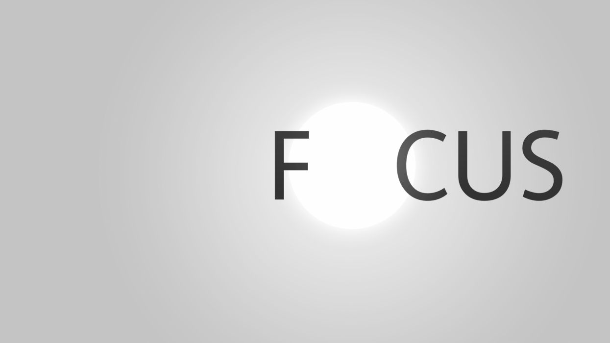 Minimalistic focus wallpaper