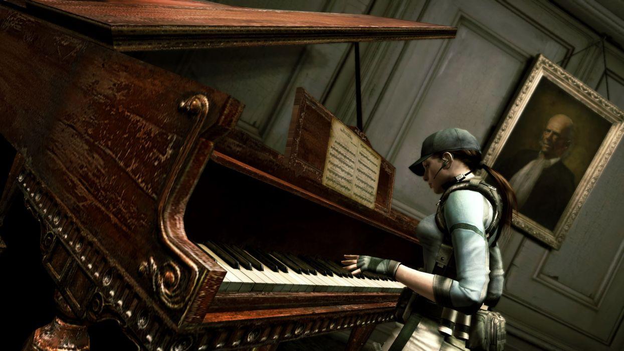 Piano resident evil jill valentine wallpaper