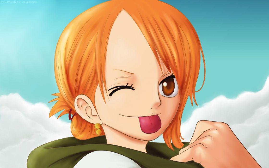 Happy One Piece Anime Anime Manga Nami One Piece Wallpaper
