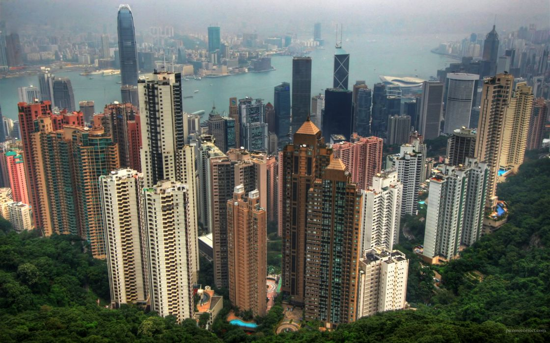 Cityscapes architecture buildings hong kong wallpaper
