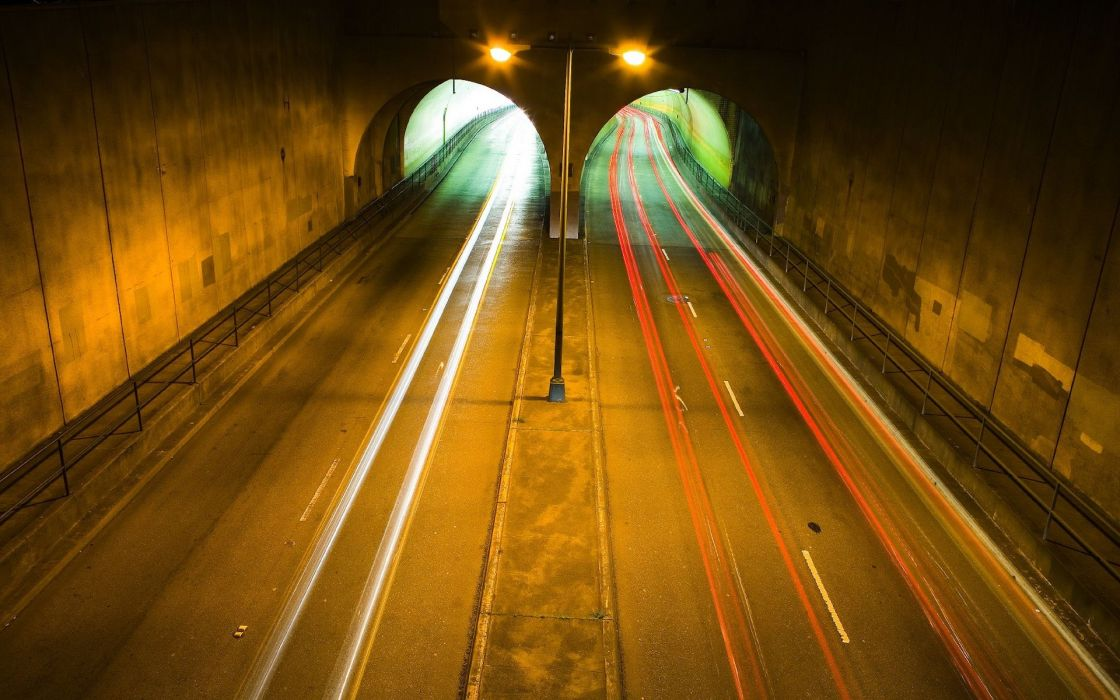 Tunnel roads wallpaper