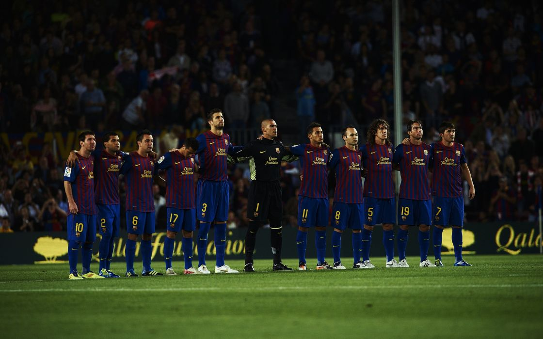 Soccer lionel messi fc barcelona carles puyol gerard piquA wallpaper
