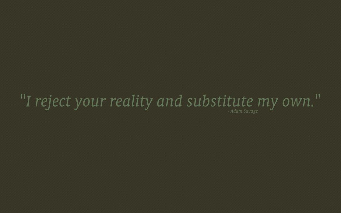 Minimalistic texts mythbusters quotes wallpaper