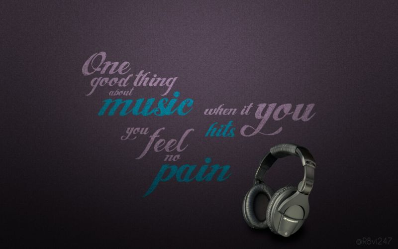 Headphones music patterns typography backgrounds posters wallpaper