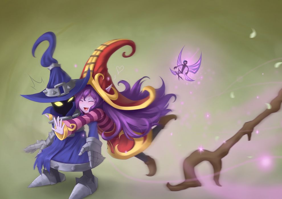 League of legends veigar anime girls riot games lulu the fae sorceress wallpaper