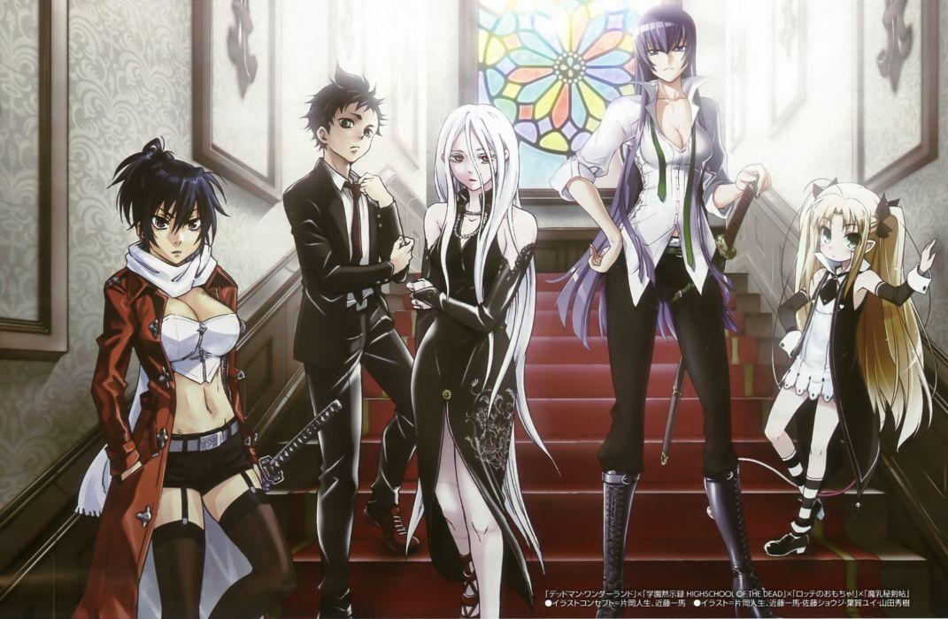 Highschool of the dead deadman wonderland busujima saeko anime crossovers wallpaper