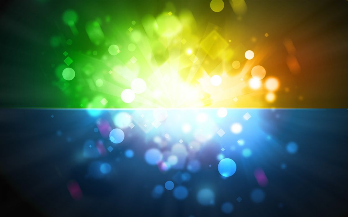 Abstract multicolor explosions wallpaper