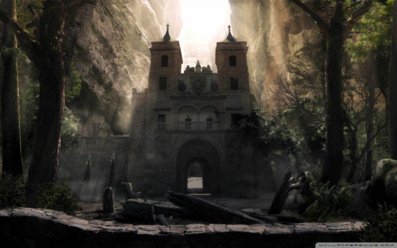 Fantasy fantasy art gate wallpaper