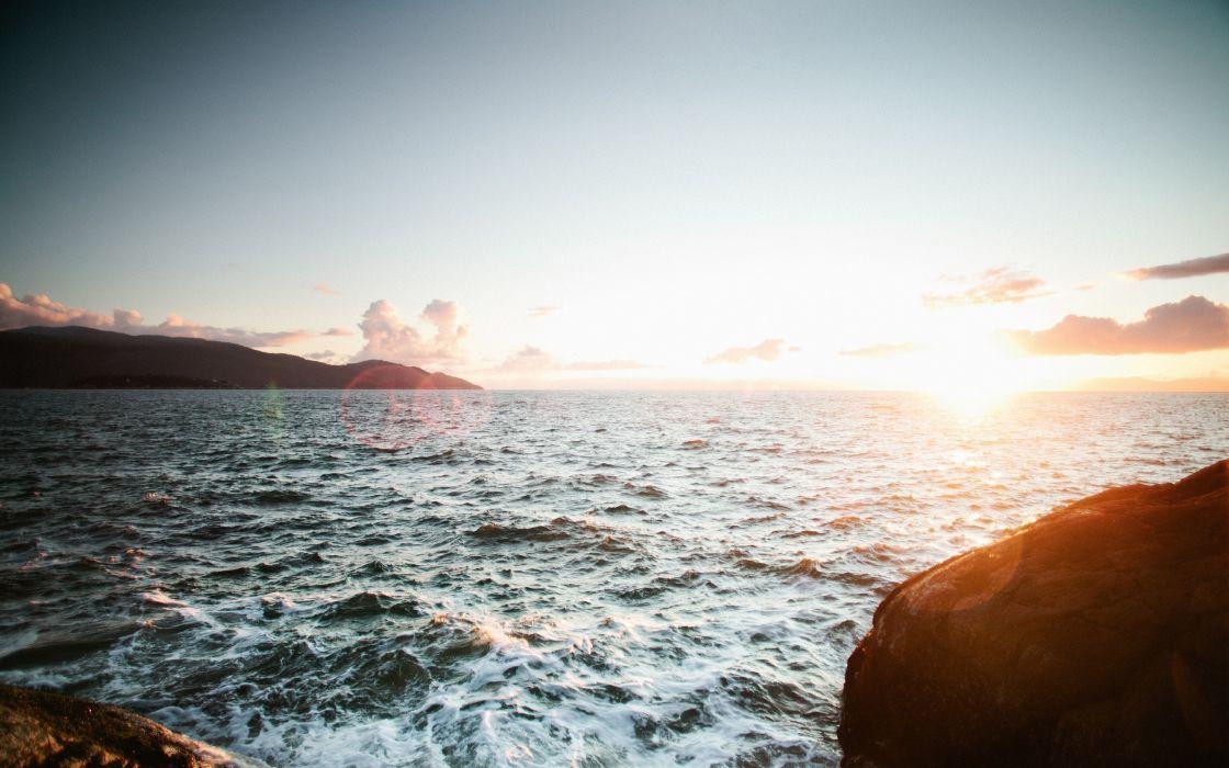 Water nature seas sunlight wallpaper