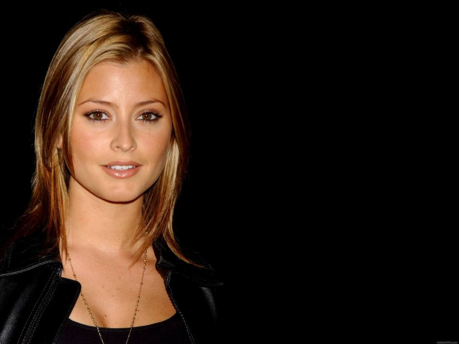 Blondes women brown eyes holly valance wallpaper
