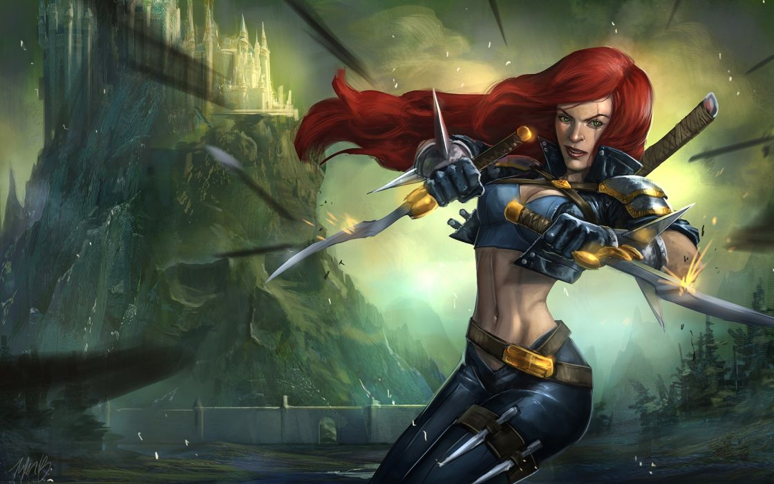 Video games league of legends katarina the sinister blade riot games wallpaper