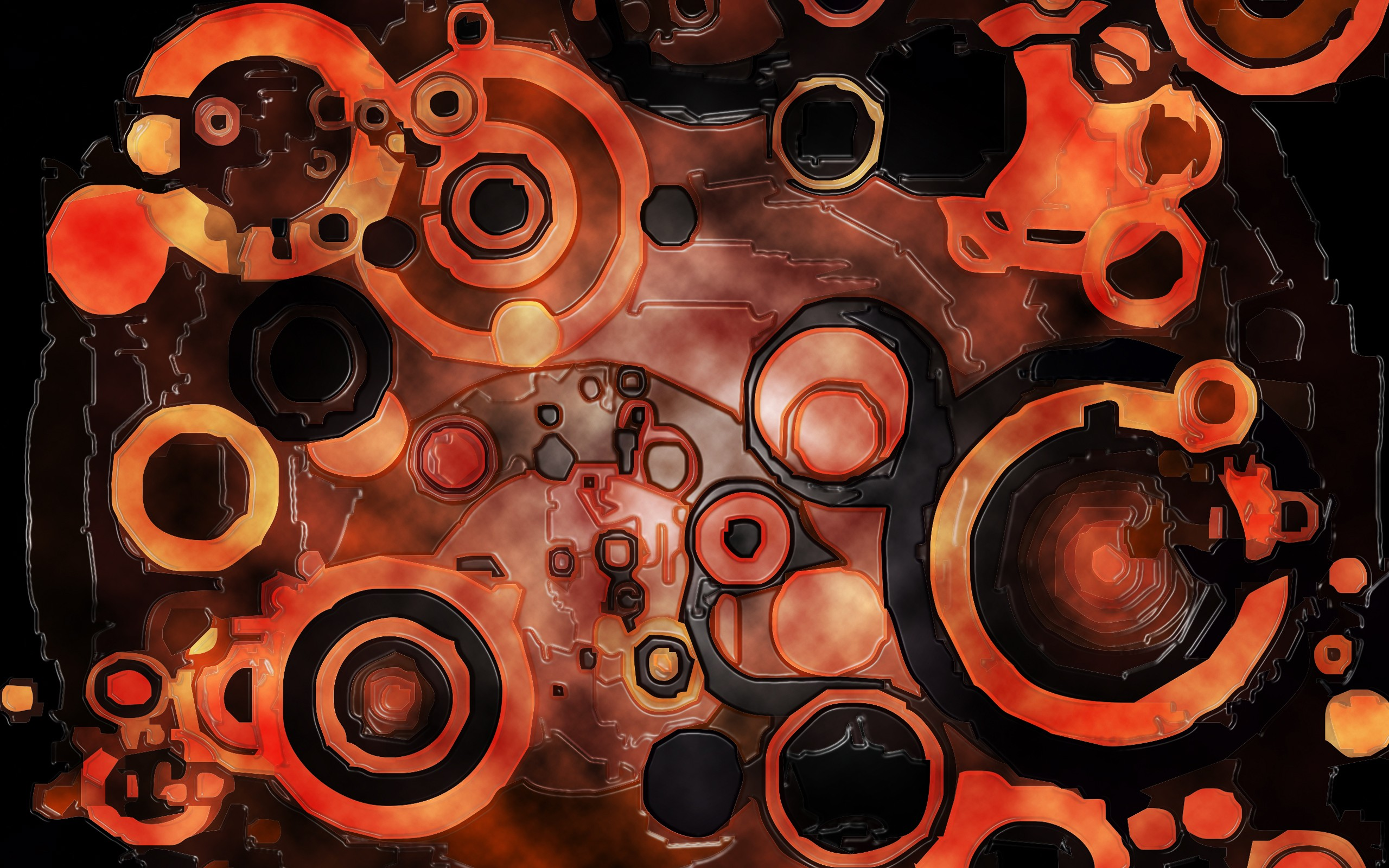 Abstract dark orange circles wallpaper | 2560x1600 | 17578 ...