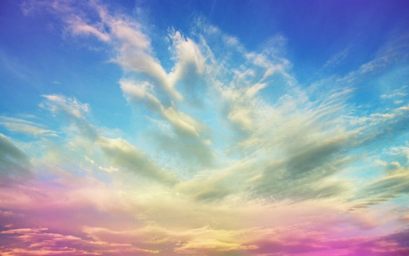 Clouds nature multicolor skyscapes photomanipulations wallpaper