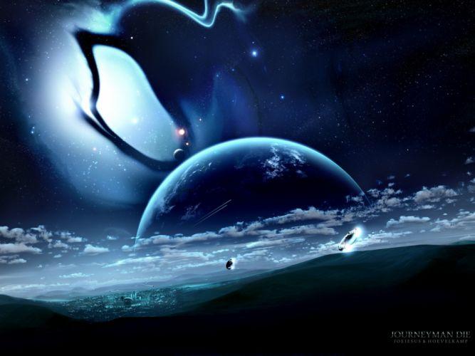 Outer space planets nebulae die joejesus josef barton wallpaper