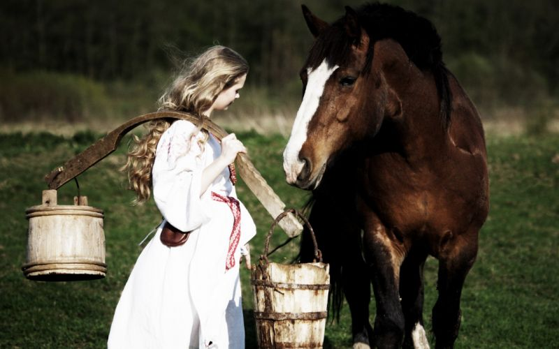 Women horses girls with horses wallpaper