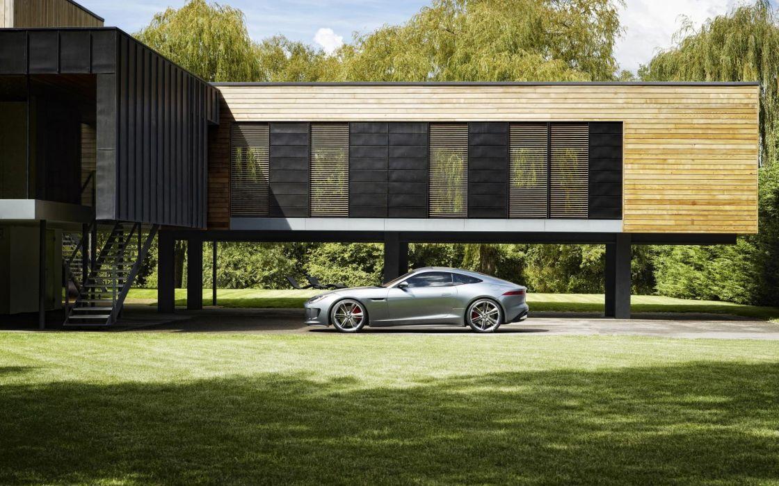 Cars architecture grass houses ferrari wallpaper