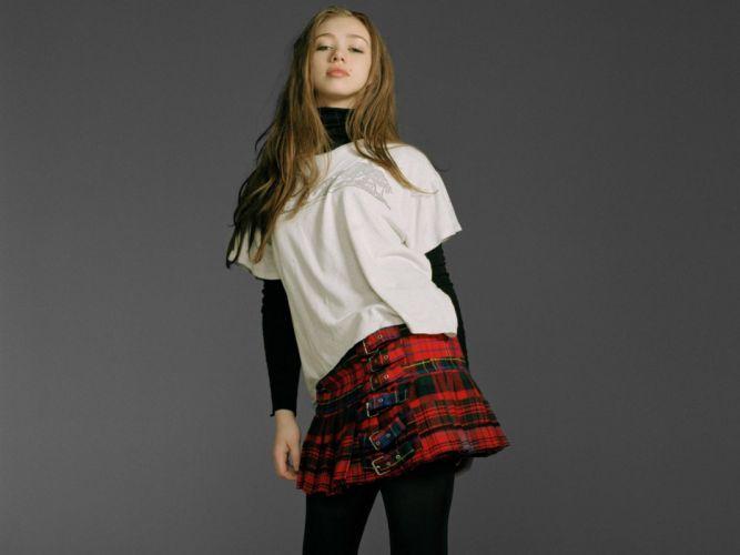 Women models teen long hair tights standing miniskirts faces skye sweetnam plaid skirt buckles wallpaper