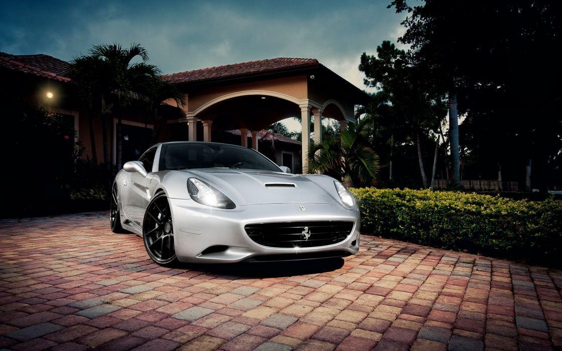 Cars ferrari california italian supercars silver cars wallpaper