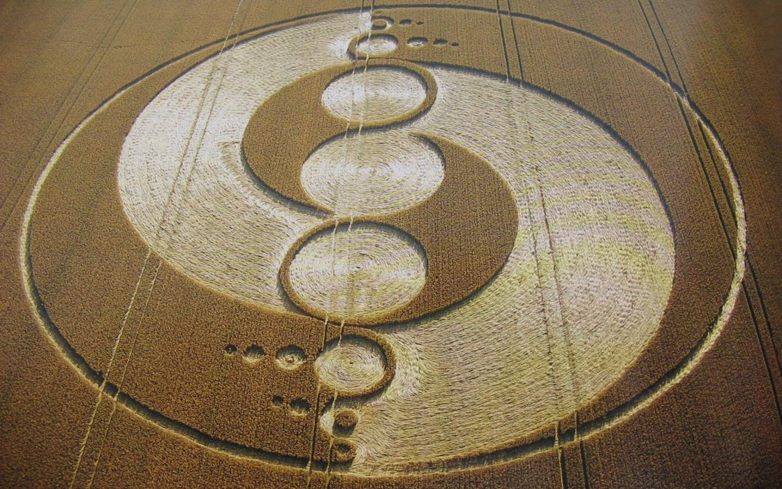 Fields crop circles mystery wallpaper
