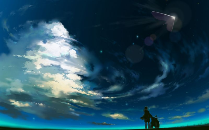 Scenic artwork hoshi wo ou kodomo children who chase lost voices from deep below wallpaper