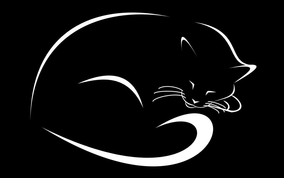 Minimalistic cats wallpaper