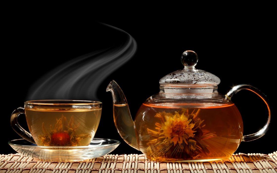 Tea cups wallpaper
