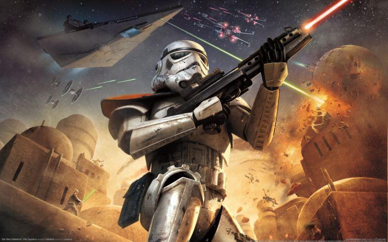 Star wars video games stormtroopers static 3d wallpaper