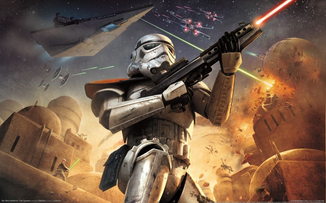 Star wars video games stormtroopers static 3d wallpaper