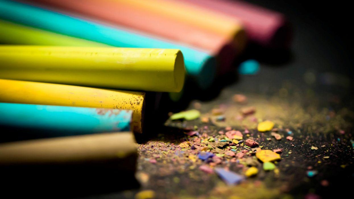 Artwork chalk colors wallpaper