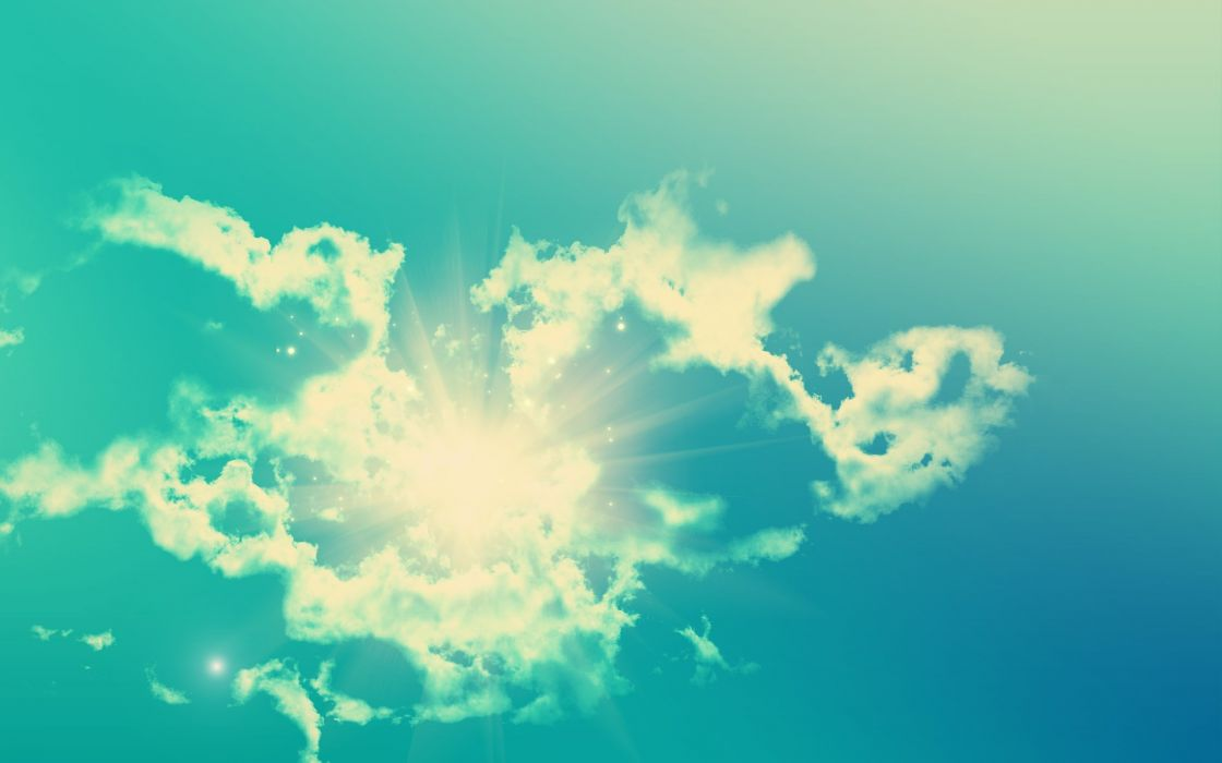 Light clouds sun skyscapes wallpaper