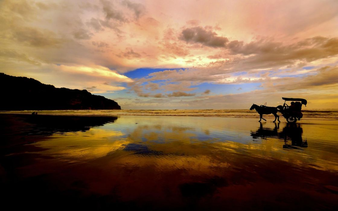 Clouds landscapes nature skyscapes wallpaper