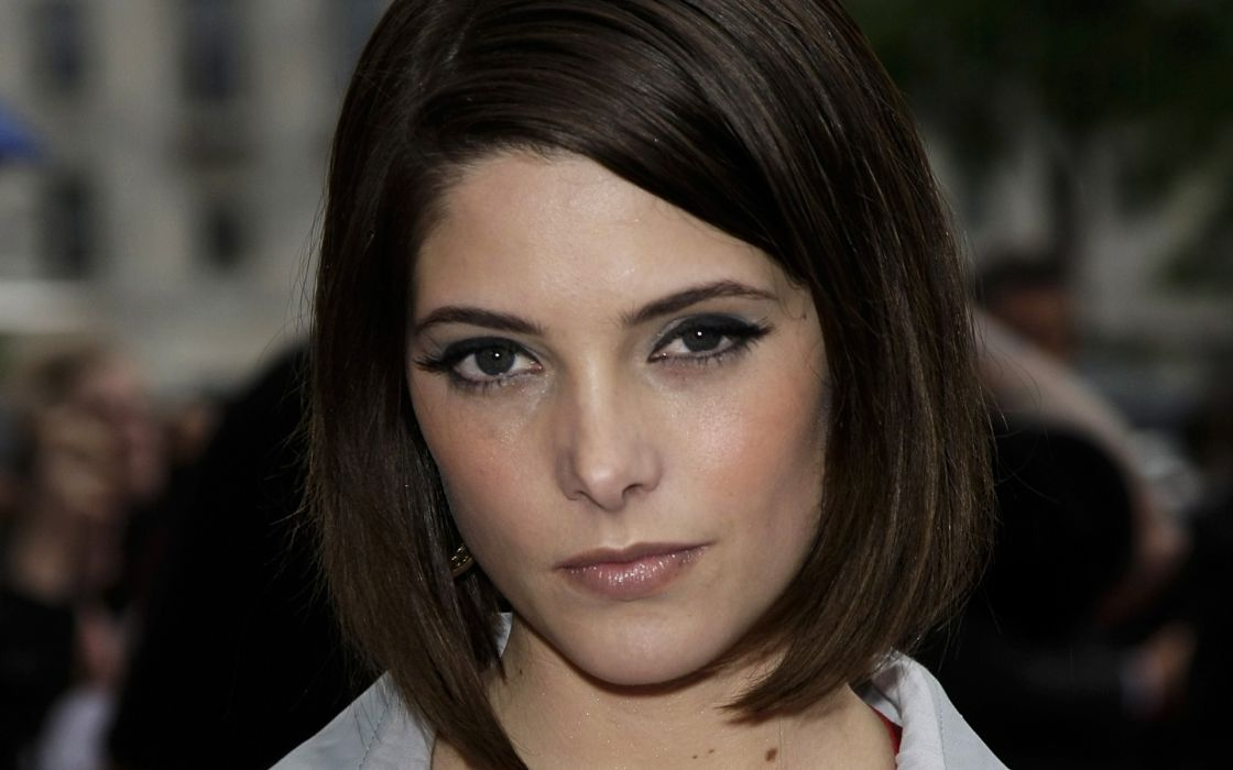 Brunettes women short hair ashley greene faces wallpaper