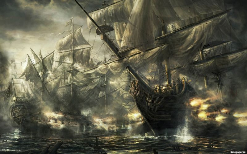 Ships artwork wallpaper
