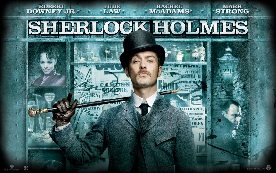 Movies sherlock holmes jude law movie posters doctor watson wallpaper