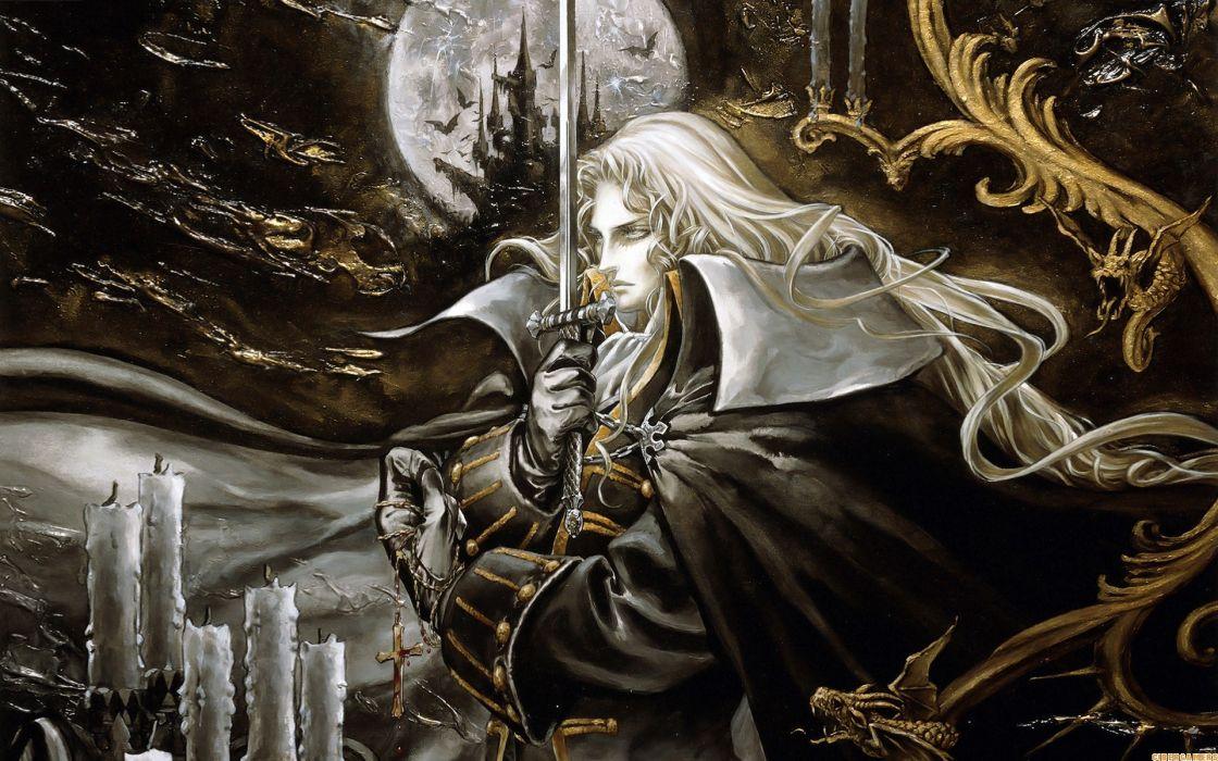 Alucard fantasy art castlevania artwork wallpaper