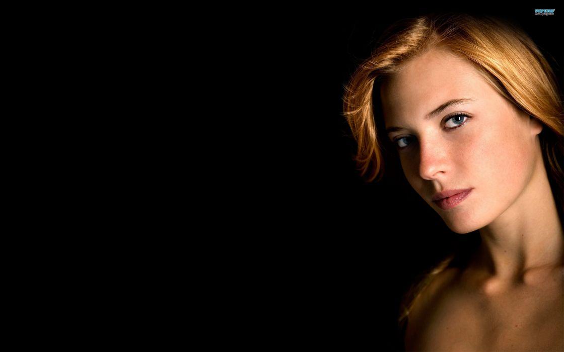 Blondes women models black background laura xicola wallpaper