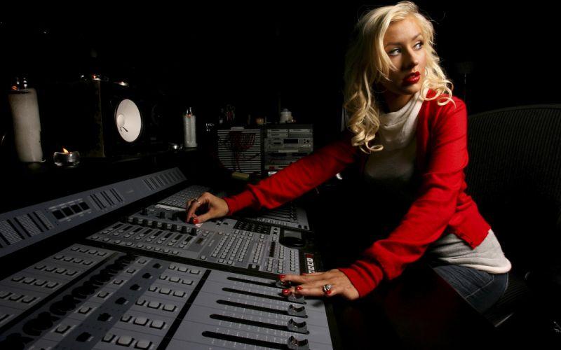 Blondes women music christina aguilera wallpaper