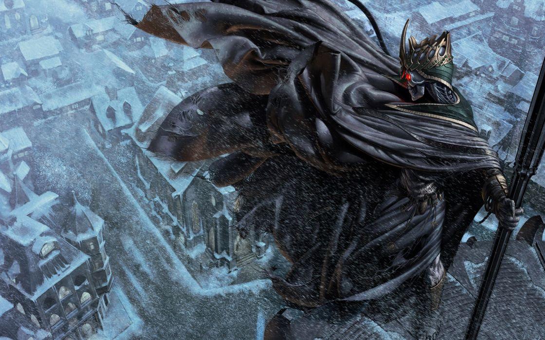 Fantasy death fantasy art rooftops wallpaper